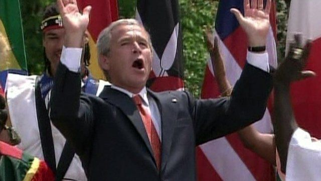 George Bush dancing