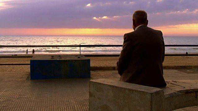 Armenian Bedros Gezoulian looking at sea