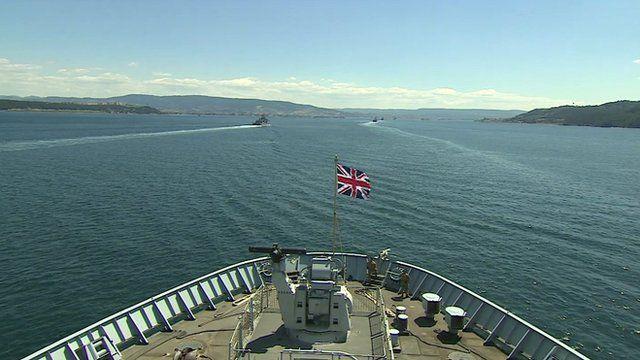 Ship with Union Jack