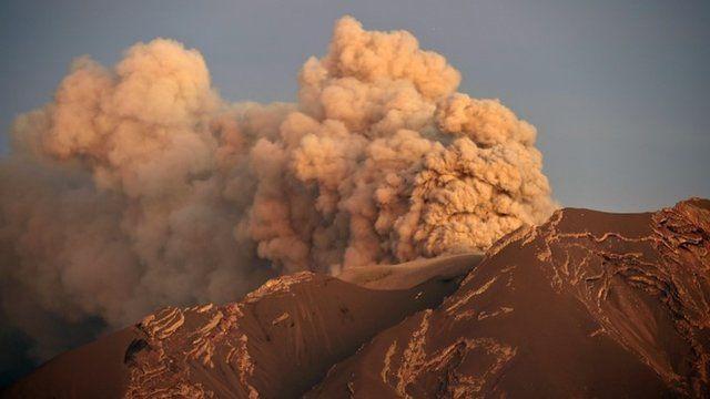 Calbuco volcano on Friday