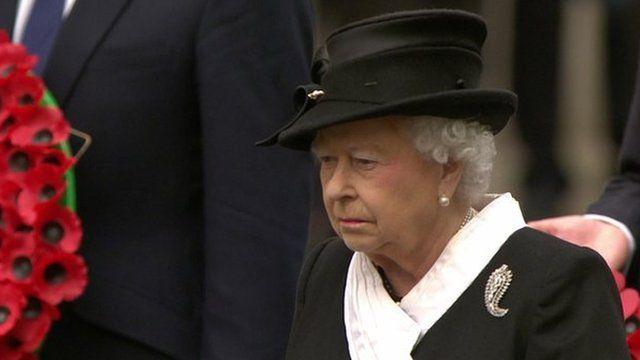 The Queen attends Cenotaph