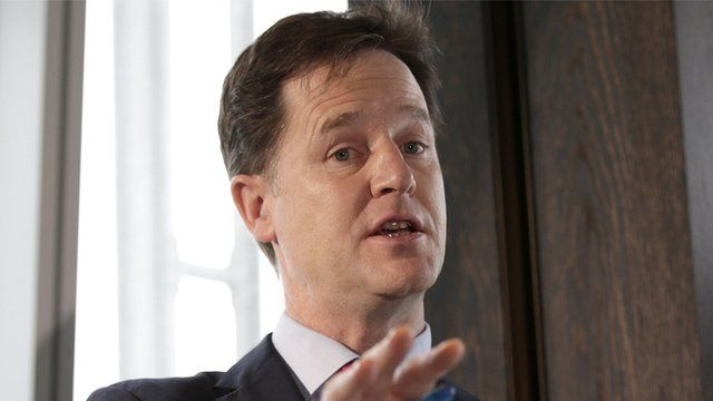 The Liberal Democrat leader Nick Clegg
