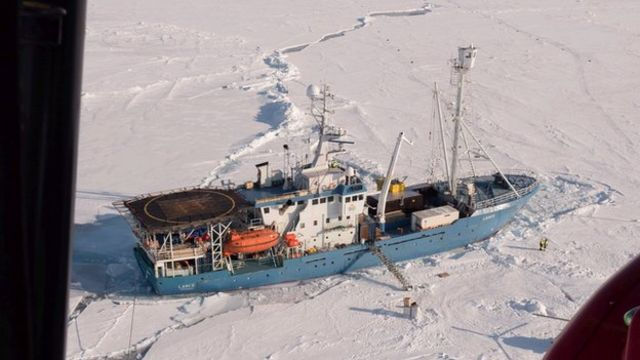 Arctic mission monitors ice shift