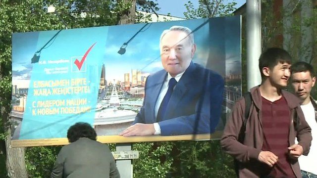 Kazakhstan election poster