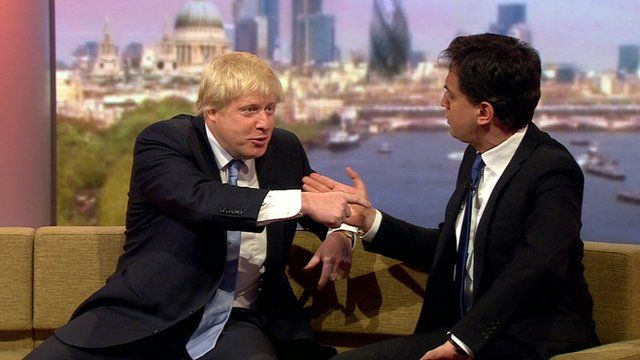 Boris Johnson and Ed Miliband