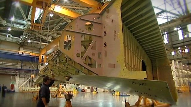 Inside the Airbus wing factory in Broughton