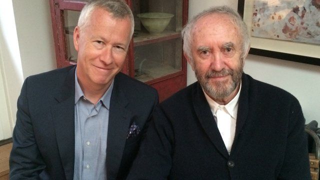 Jonathan Pryce (right) with Front Row's John Wilson