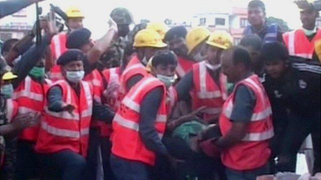 Woman rescued in Nepal