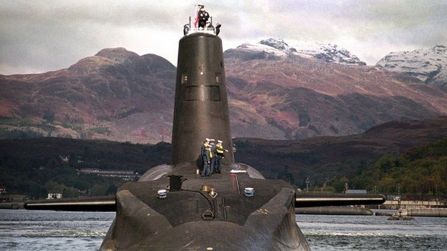 File photo of Trident-class nuclear submarine Vanguard