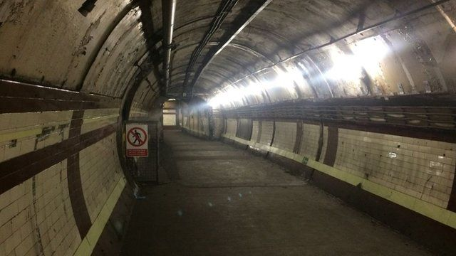 The 'ghost' station at Down St Tube
