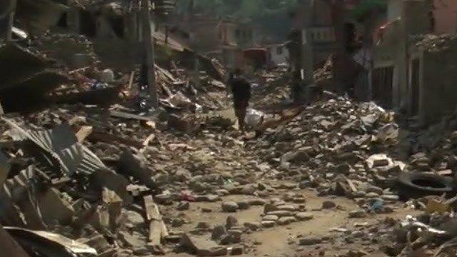 Debris in street