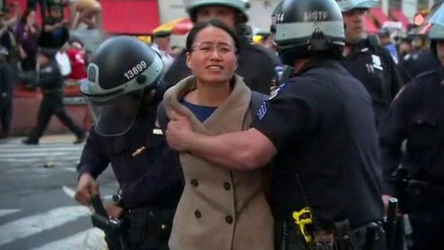 Woman arrested by police