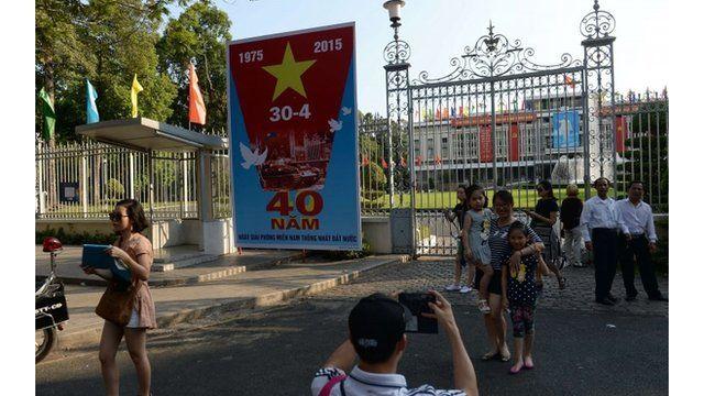 Poster marks fall of Saigon
