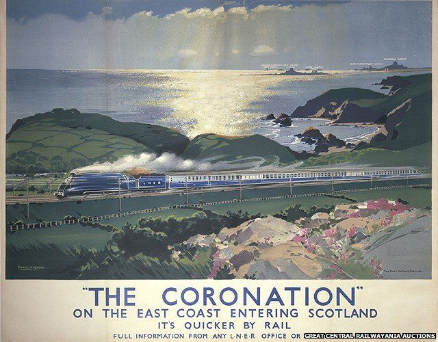 The Coronation on the East Coast entering Scotland