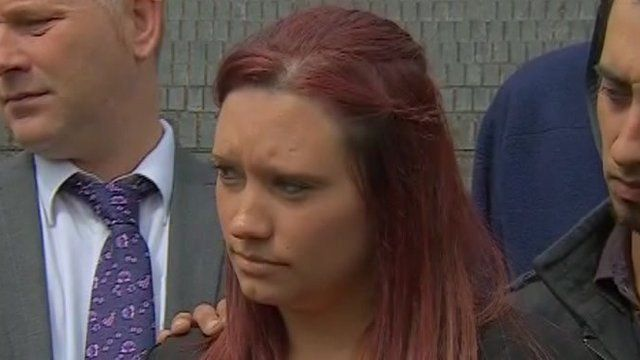 Amelia Jones' family on court steps after trial ends