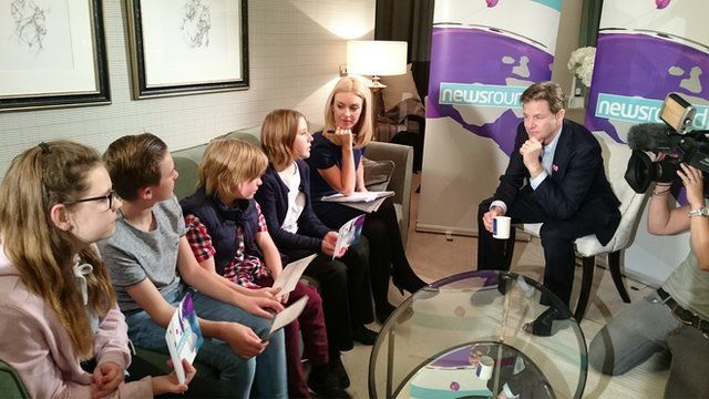 The kids chat to Nick Clegg