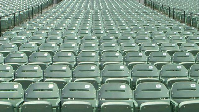 Empty Orioles stadium