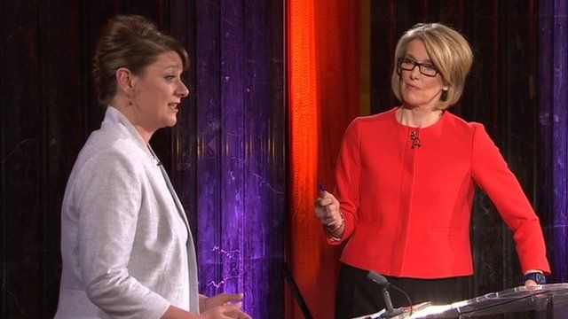 Leanne Wood and Bethan Rhys Roberts