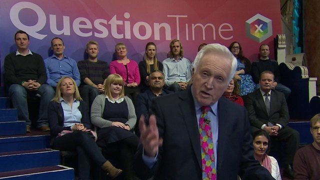 David Dimbleby hosted the Question Time special