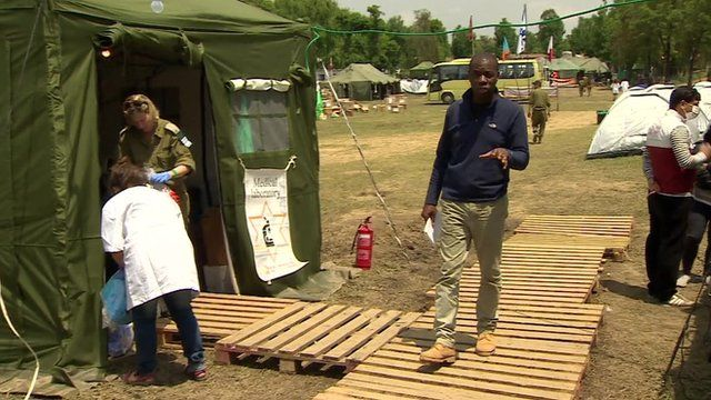 Clive Myrie reports from Israeli field hospital in Kathmandu
