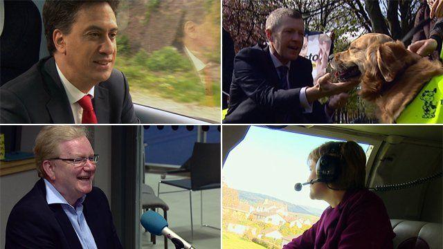 Ed Miliband, Willie Rennie, Jackson Carlaw and Nicola Sturgeon