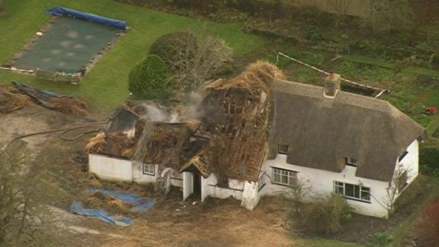 Jean Gladstone's Rokemarsh home was substantially damaged on the night of the fires