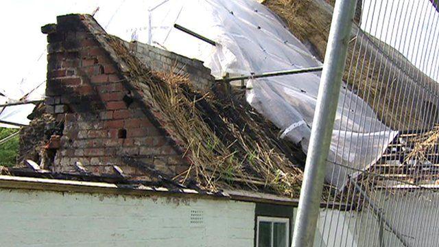Jean Gladstone's fire-damaged cottage