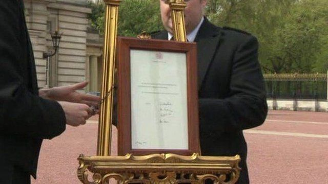 Easel at Buckingham Palace