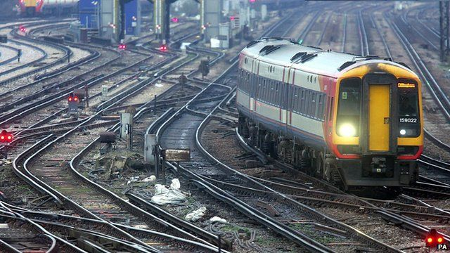 File photo from January 2008 of railway train outside Clapham Junction train station