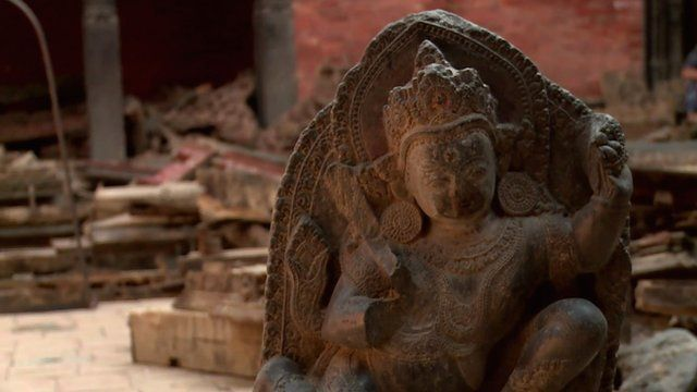 Remains of a statue in Patan
