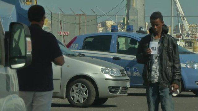 Migrants arrive in Italy