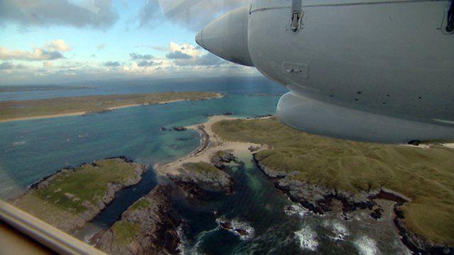 Flight over Argyll islands