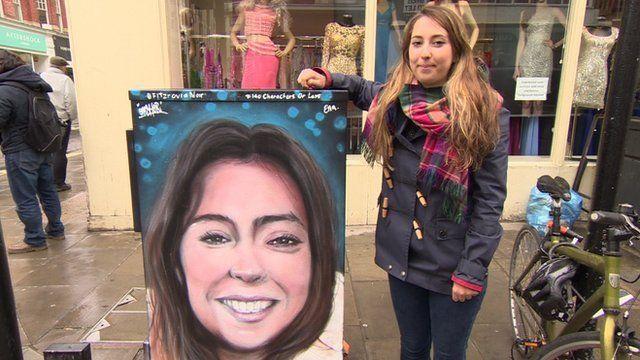 Street art portrait and Ella Taylor-Palfrey