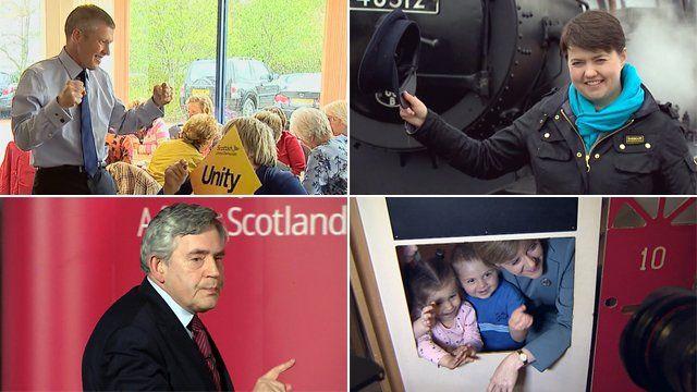 Wiilie Rennie, Ruth Davidson, Nicola Sturgeon and Gordon Brown