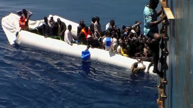 Migrants scramble to safety