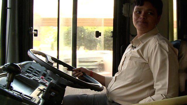 Delhi's first woman bus driver