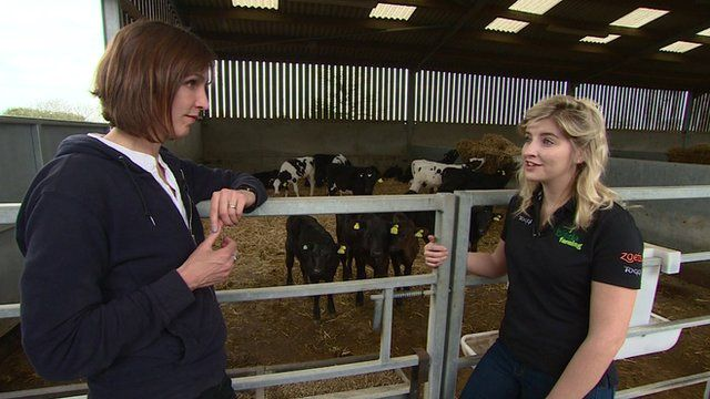 Danielle, who rears calves, talks about living and working in the countryside
