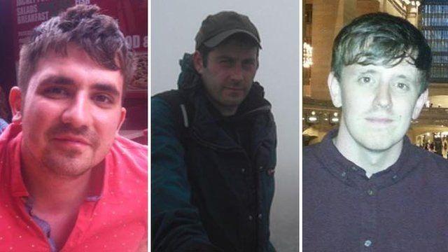 Darren Russell, Daniel Hughes and Jason Russell