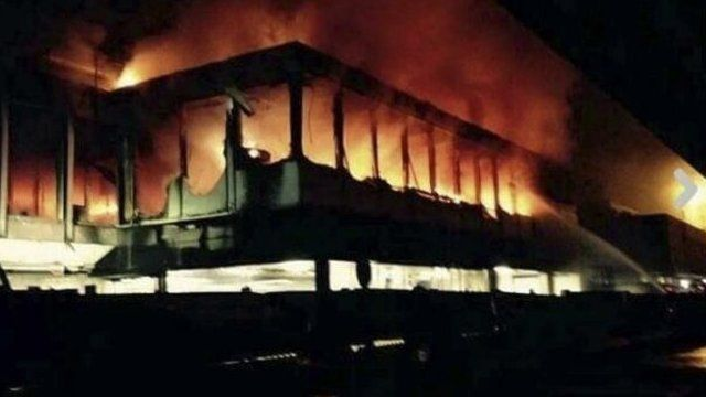 Fire at Fiumicino airport - 7 May