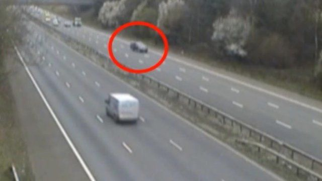 Police CCTV footage of car