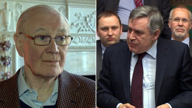 Menzies Campbell and Gordon Brown