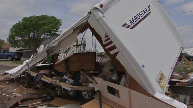 Tornado aftermath in Oklahoma City