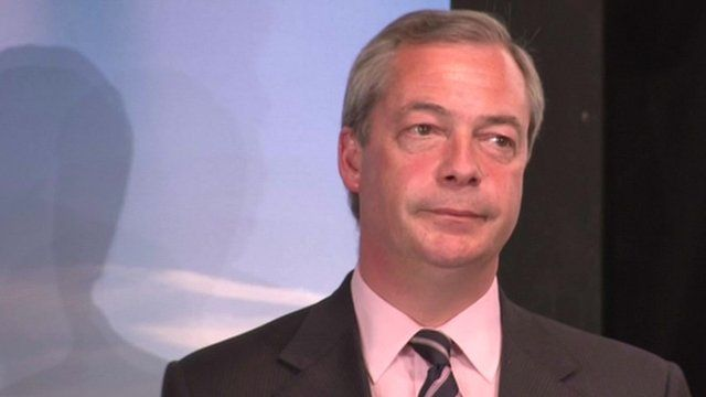 Nigel Farage after failing to win the seat of Thanet South