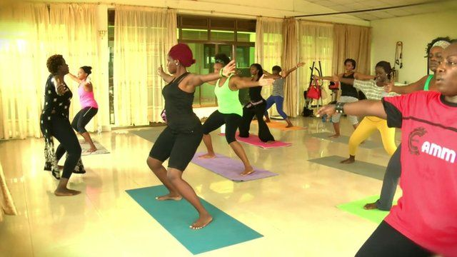 A class at Fit Clique Africa