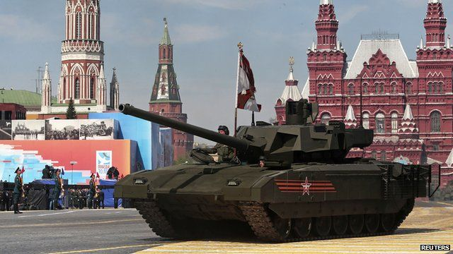Russia's new Armata tank on display during Victory Day celebrations in Moscow