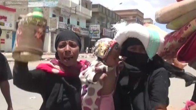 Yemen conflict: Many struggle to flee Saada strikes
