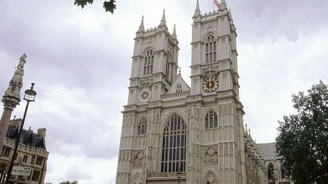 File image of Westminster Abbey where a service to mark VE Day takes place on Sunday