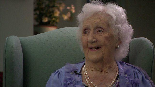 Menna Wyn-Jones who remembers seeing Princesses Elizabeth and Margaret