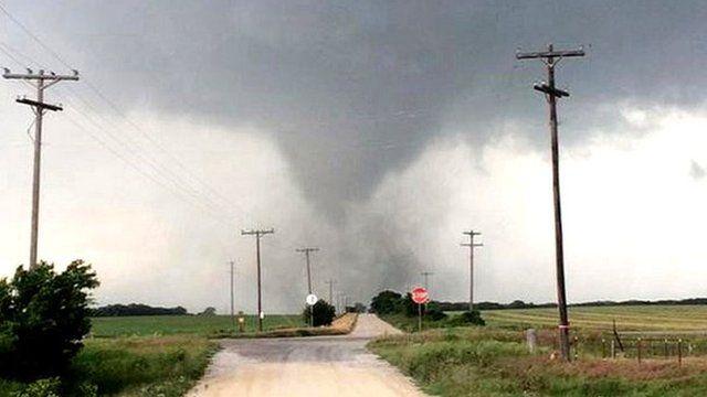 A tornado in Cisco, Texas