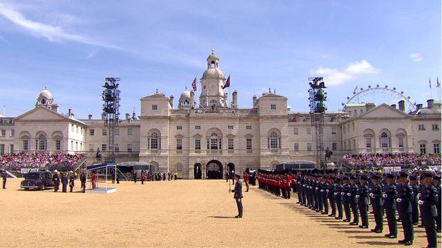 ceremony at Buckingham Palace